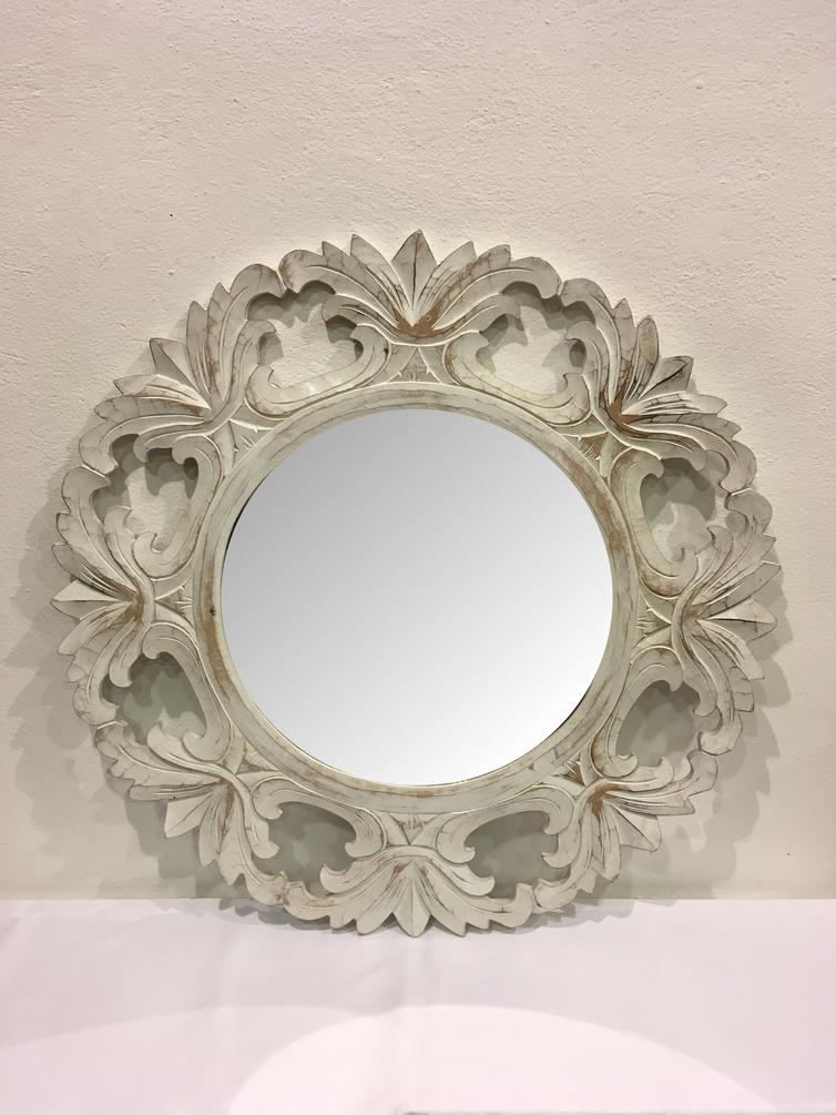 Specchio decapato bianco lo scarabeo - Specchio bianco ...
